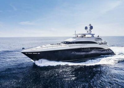 At 130ft the tri-deck 40M is Princess Yacht's flagship superyacht.